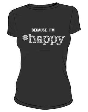 Koszulka damska HAPPY czarna