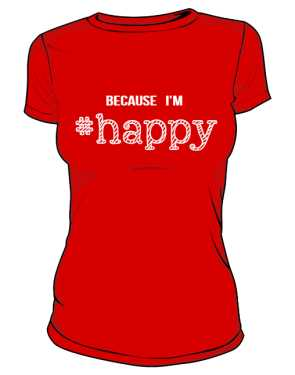 Koszulka damska HAPPY czerwona