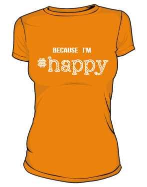 Koszulka damska HAPPY  pomarańczowa