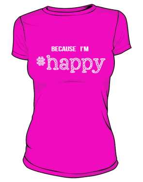 Koszulka damska HAPPY różowa