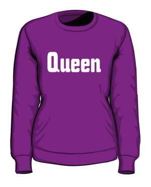 Bluza Queen bez kaptura