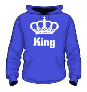 Bluza King Korona z Kapturem