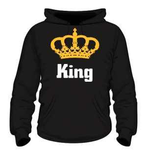 Bluza King Złota Korona z Kapturem