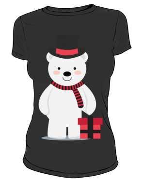 Damska koszulka z misiem