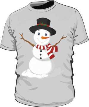 Koszulka z bałwankiem