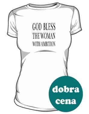 Kobieta Ambitna Koszulka Damska