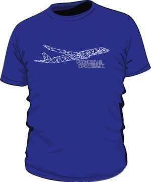 Koszulka z samolotem z trójkątów