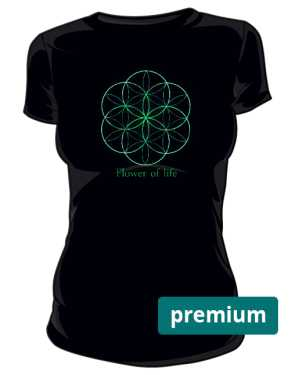 Flower of life koszulka damska premium