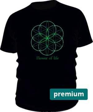 Flower of life koszulka męska premium