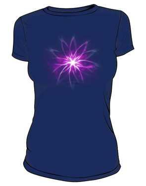 Flower Neon Tshirt damski