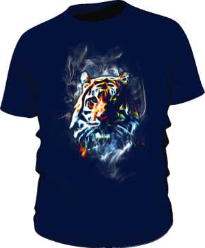 Tiger Neon Color Koszulka Męska