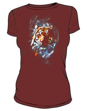 Tiger Neon Color Koszulka Damska