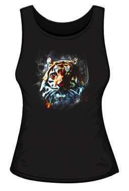 Tiger Neon Color Koszulka Damska Black