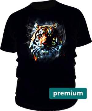Tiger Neon Color Koszulka Męska Czarna