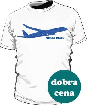Koszulka z niebieskim samolotem MN
