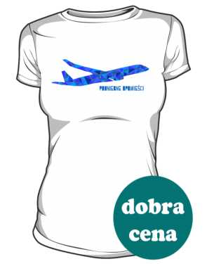 Koszulka damska z kolorowym samolotem MN