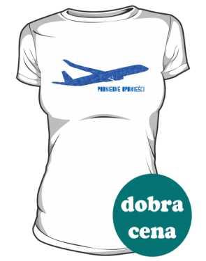 Koszulka damska z niebieskim samolotemMN