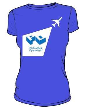 Koszulka damska niebieska z latawcem