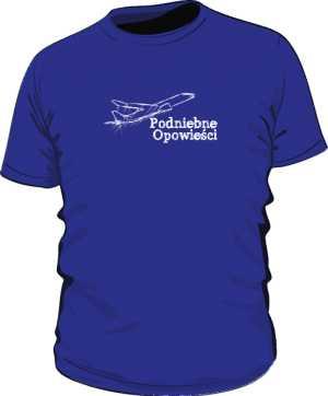 Koszulka niebieska z samolotem z linii