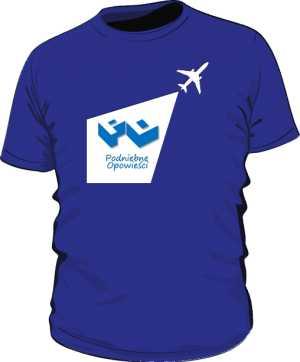 Koszulka niebieska z logo w latawcu