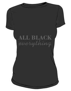 All black everything damska