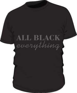 All black everything męska