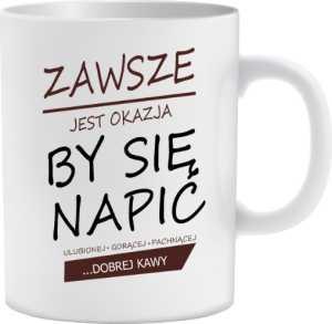 Kawa Dobra Kubek Porcelanowy