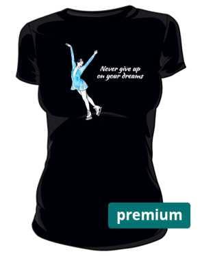 Czarna koszulka z łyżwiarką