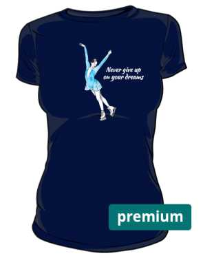 Granatowa koszulka z łyżwiarką