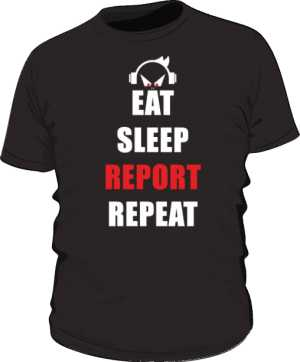 Eat Sleep Report Repeat