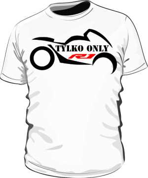 Koszulka logo Tylko r1 only r1