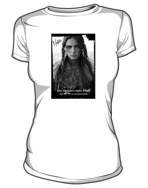 Silna kobieta Native Tshirt biały
