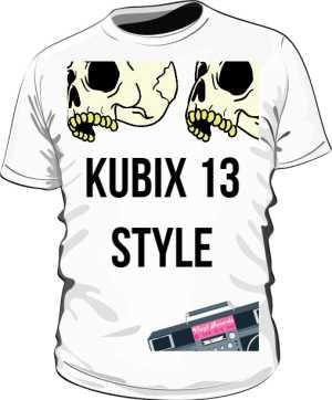 Koszulka Meska Biała KUBIX STYLE