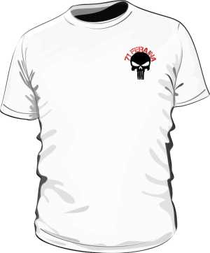 Koszulka Skull Biała