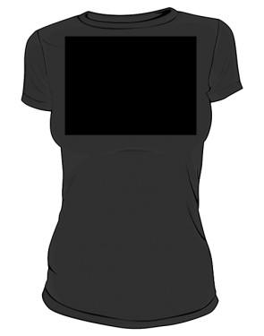 Koszulka damska I love XIV LO czarna