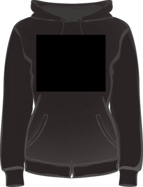 Bluza damska I love XIV LO czarna
