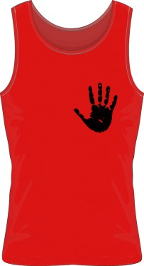 Red Tshirt Black Palm