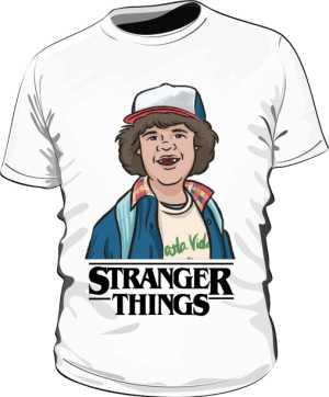 Koszulka Biała Stranger Things