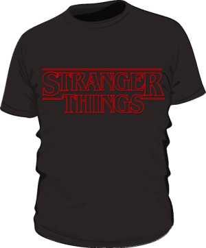 Koszulka Czarna Stranger Things