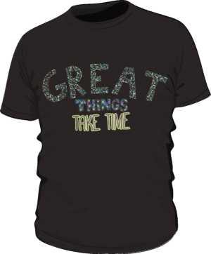 Great things koszulka basic czarna