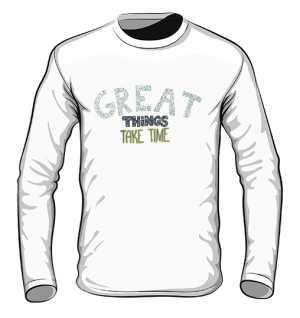 Great things longsleeve biały