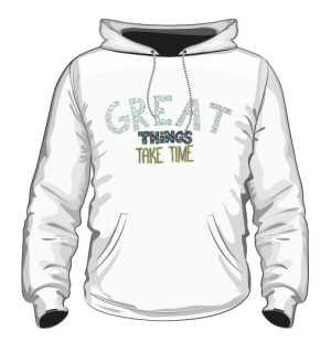Great things bluza kaptur biała