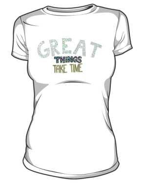 Great things koszulka basic biała