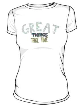 Great things koszulka premium biała