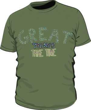 Great things koszulka basic khaki