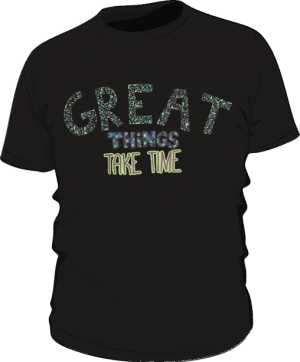 Great things koszulka premium czarna