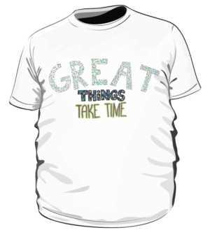 Great things koszulka plus biała