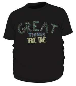 Great things koszulka plus czarna