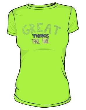 Great things koszulka basic trawiasta