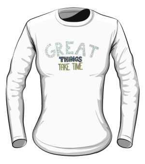 Great things longsleeve biały